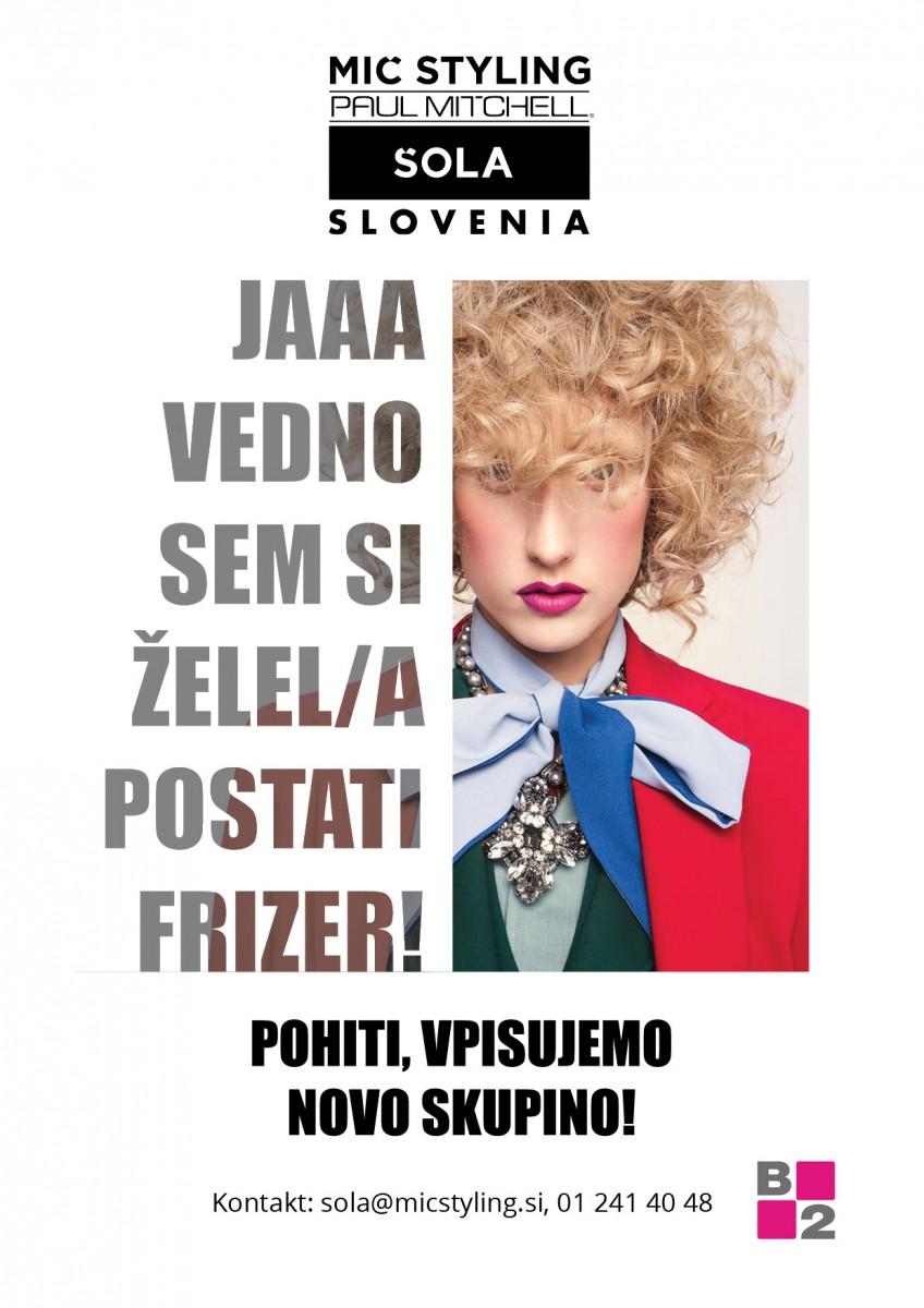 VPIS V FRIZERSKO ŠOLO